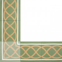 cement tiles - borders and corners