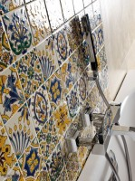 hand painted tiles tunisian patchwork