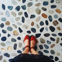 terrazzo tiles wall and floor covering