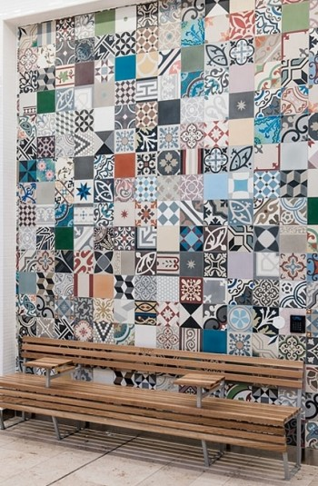 Use of cement tiles