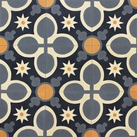 cement tiles - diagonal pattern