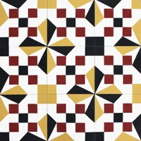 cement tiles - cubic pattern