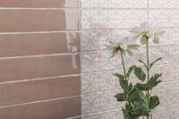 small sized decorative tiles brick wall