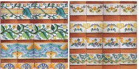 hand painted tiles azulejos
