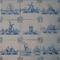 netherland delft tiles hand painted
