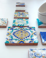 hand painted ceramic tiles, decorative tiles rucne malovany obklad dekorativny