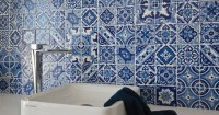 hand painted tiles patchwork