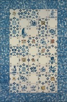 hand painted tiles - patchwork
