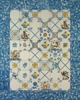 hand painted tiles - panel