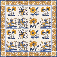 hand painted tiles - traditional motifs
