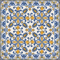 hand painted tiles - rustic motifs
