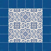 hand painted tiles - folkish motifs