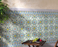 mediterranean hand painted tiles